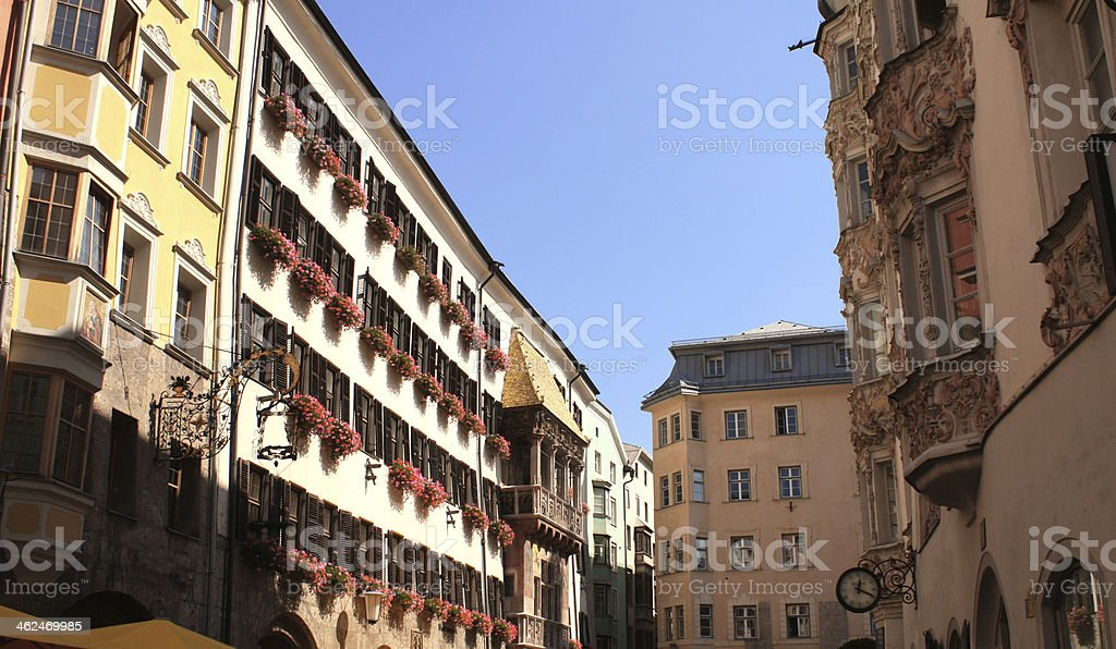 Goldenes Dachl in Innsbruck royalty-free stock photo