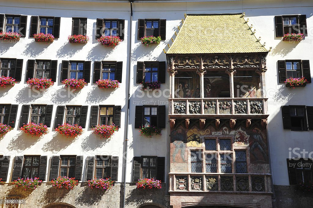 Goldenes Dachl, Innsbruck stock photo