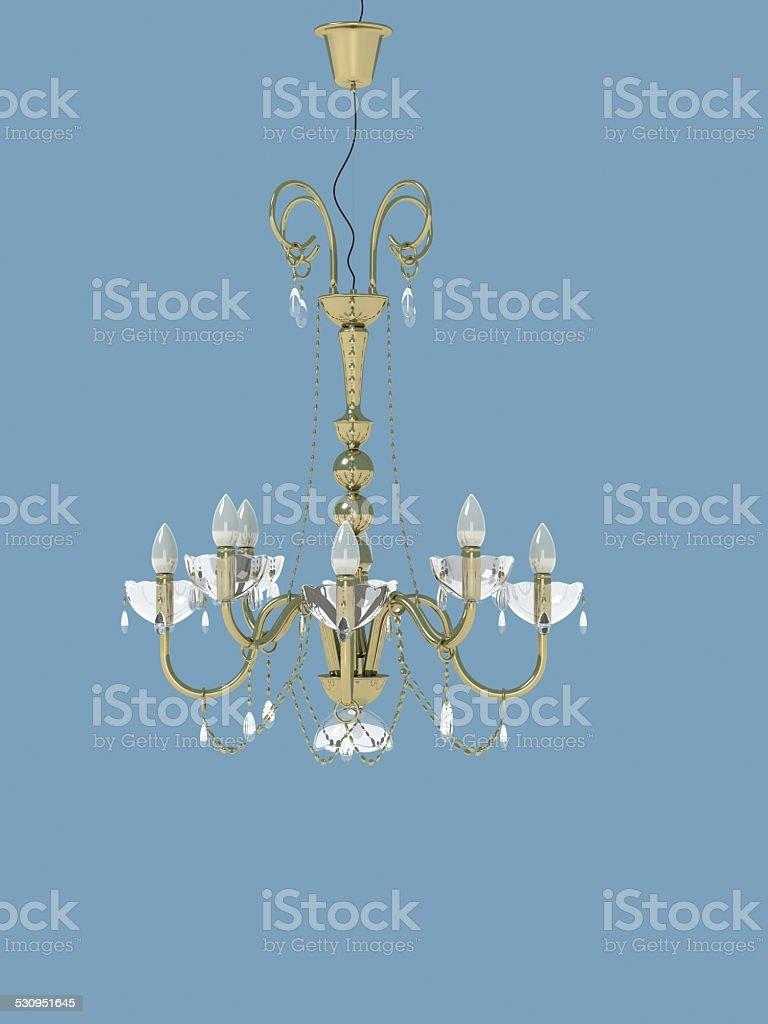 goldeng ceiling lamp stock photo