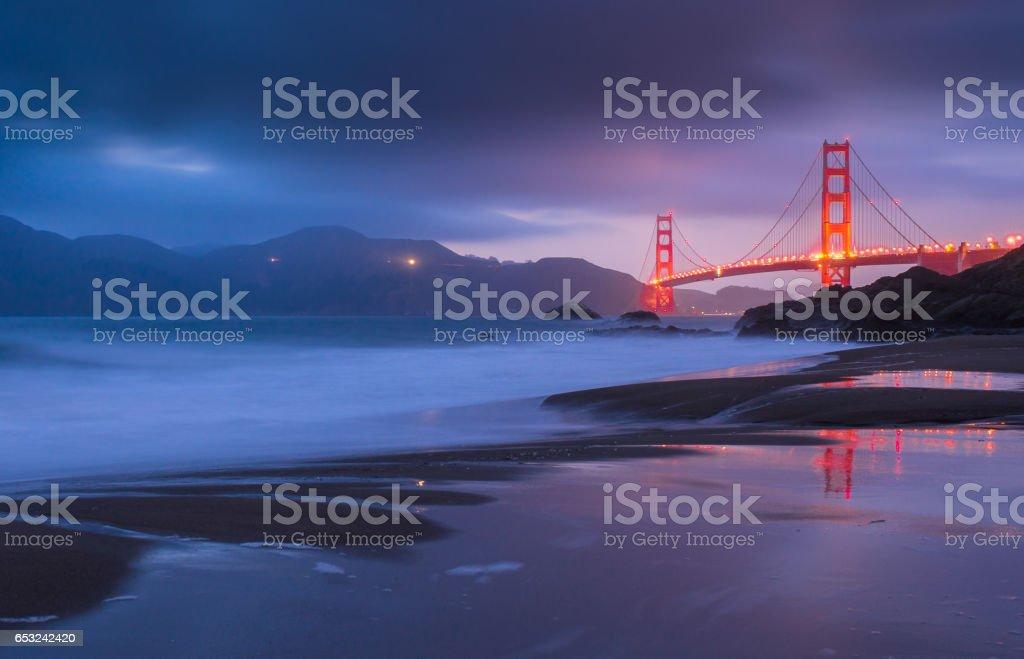 Golden-Gate Bridge at Dusk stock photo