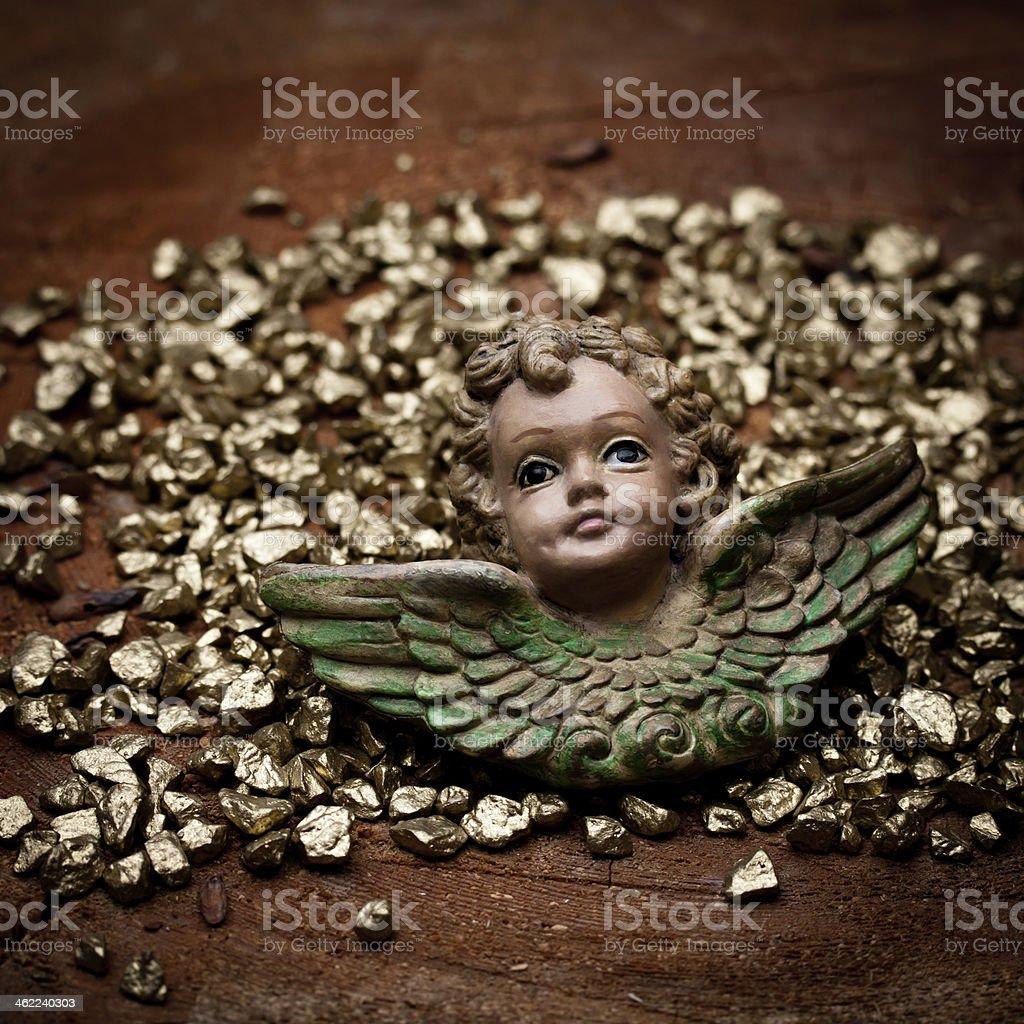 Goldengel stock photo