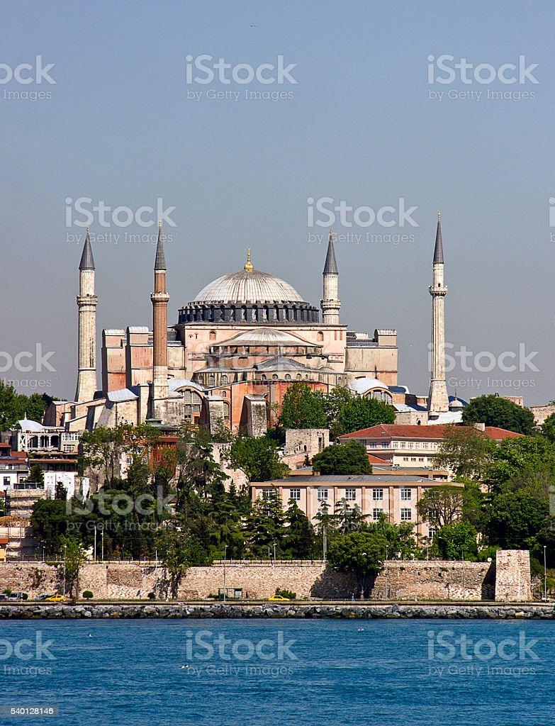 Goldenhorn Hagia Sophia stock photo