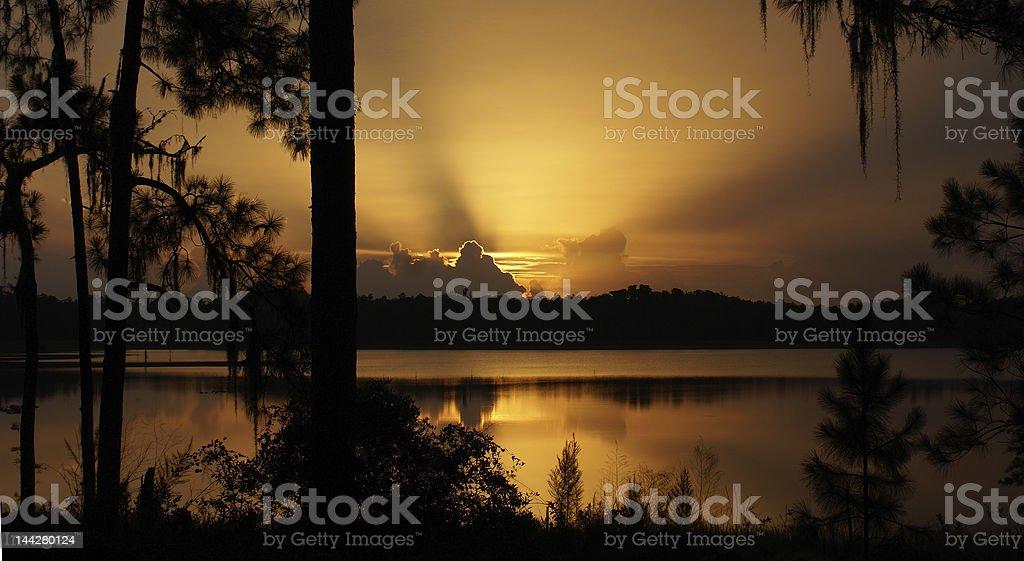 GoldenSunset royalty-free stock photo