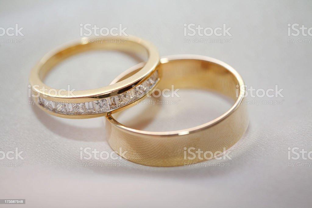 Goldern Rings royalty-free stock photo