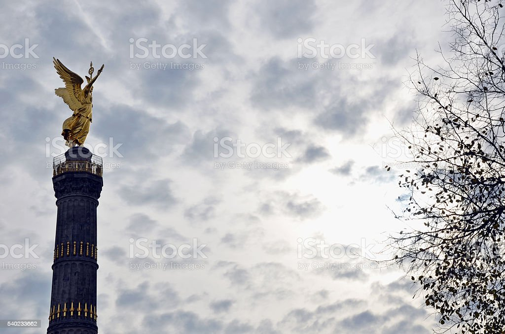 Goldese on the Victory Column, Berlin, Germany stock photo
