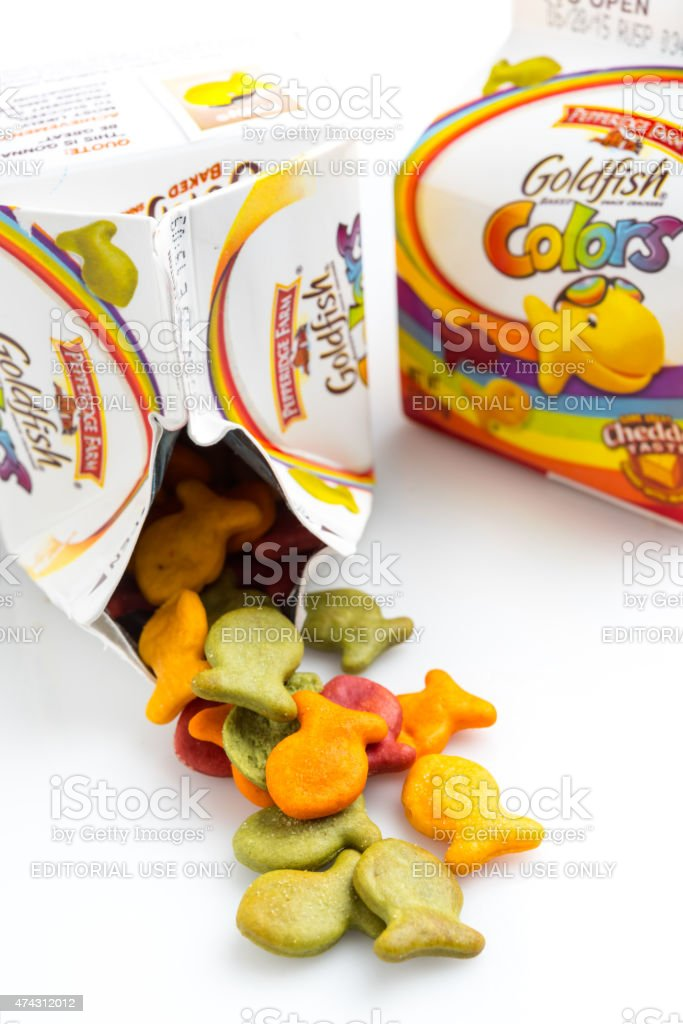 Goldfish baked snack crackers stock photo