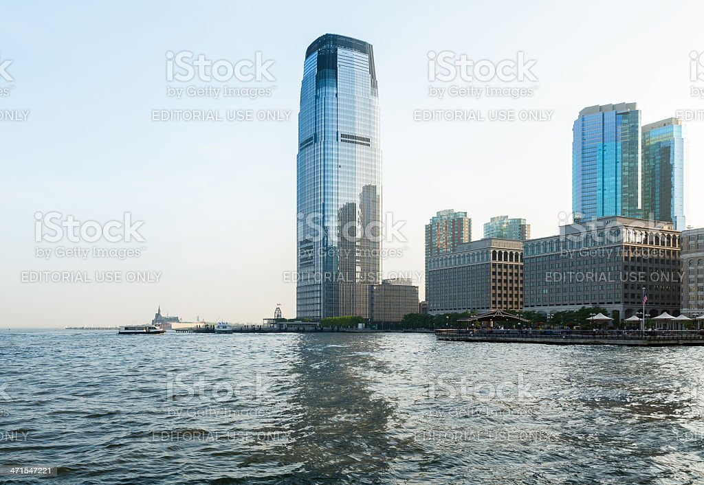 Goldman Sachs Tower in Exchange Place Jersey City NJ stock photo