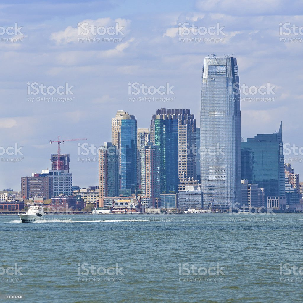 Goldman Sachs Tower in Jersey City. stock photo