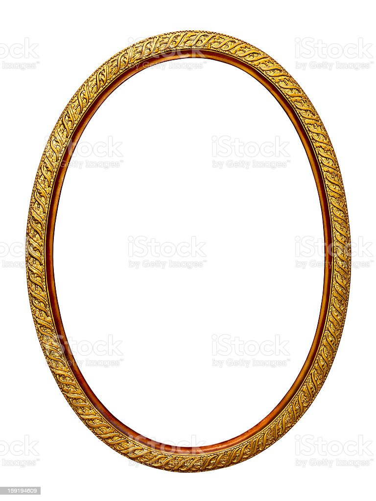 gold-patterned frame for a picture stock photo