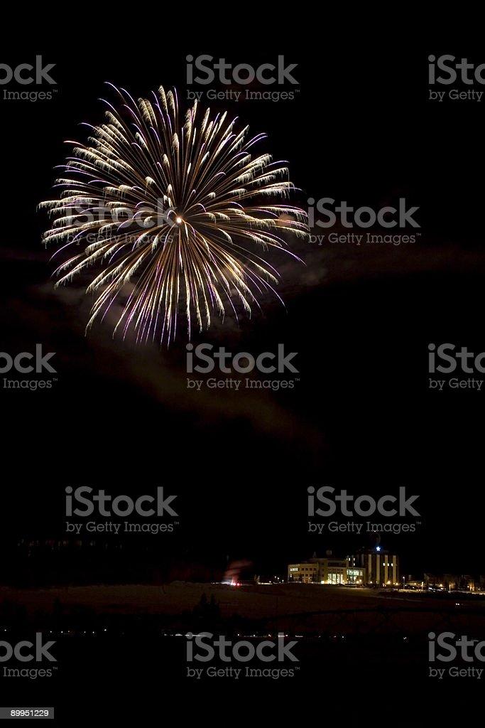 Gold-Purple fireball royalty-free stock photo