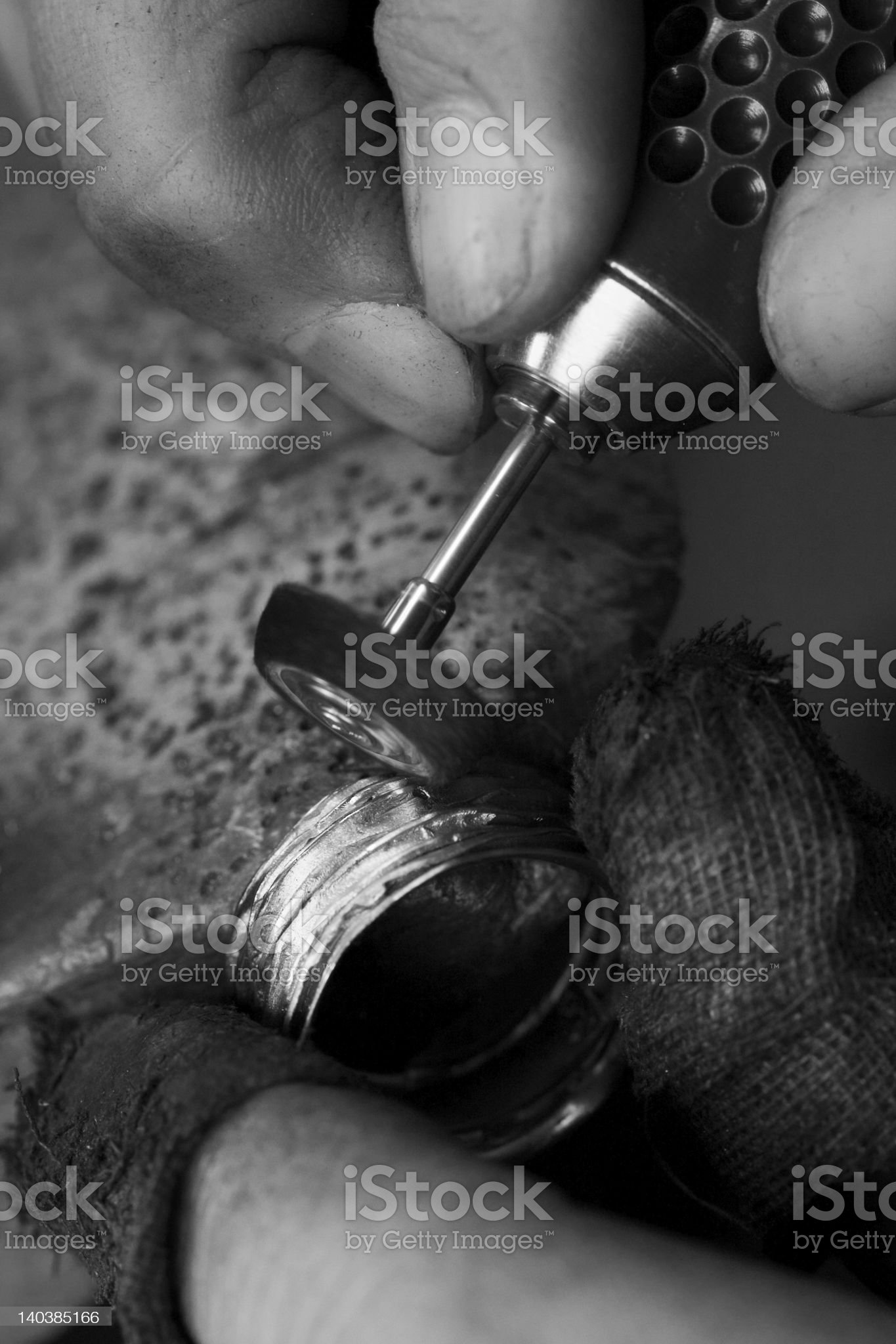 goldsmith making ring royalty-free stock photo