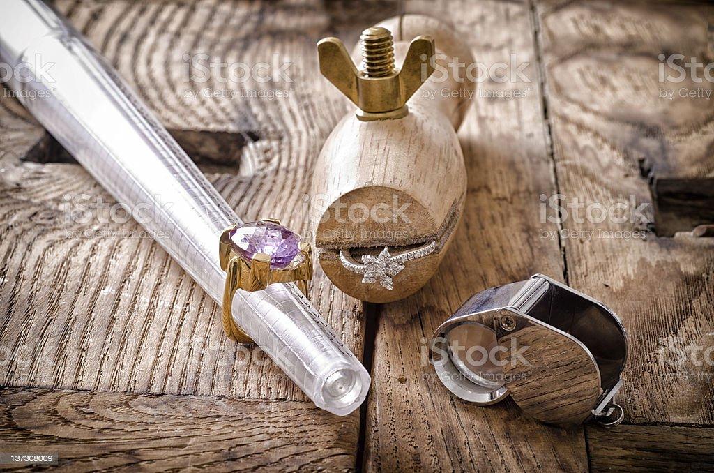 Goldsmith's tools royalty-free stock photo