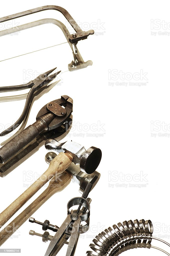 goldsmiths tools royalty-free stock photo