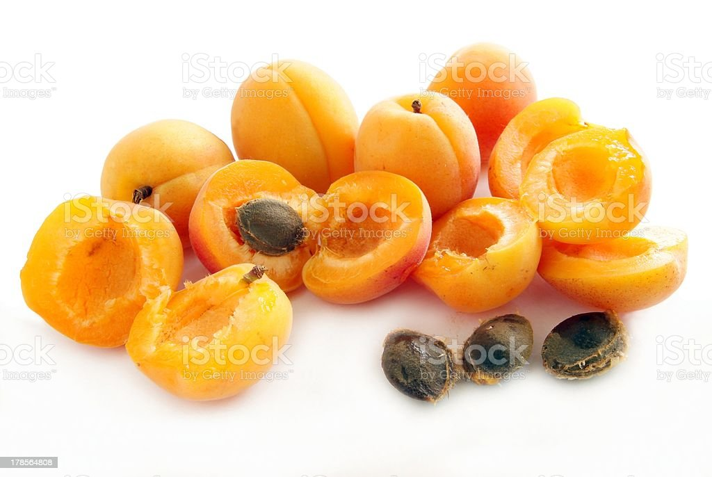 gold,sweet apricots stock photo