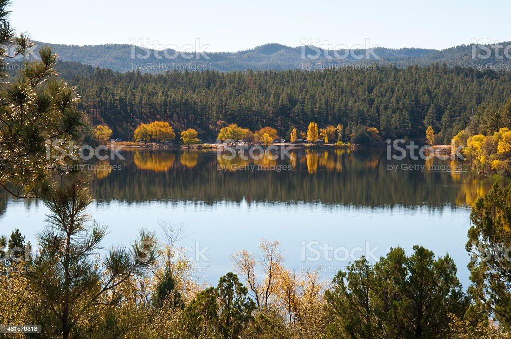 Goldwater Lake, Prescott, Arizona stock photo