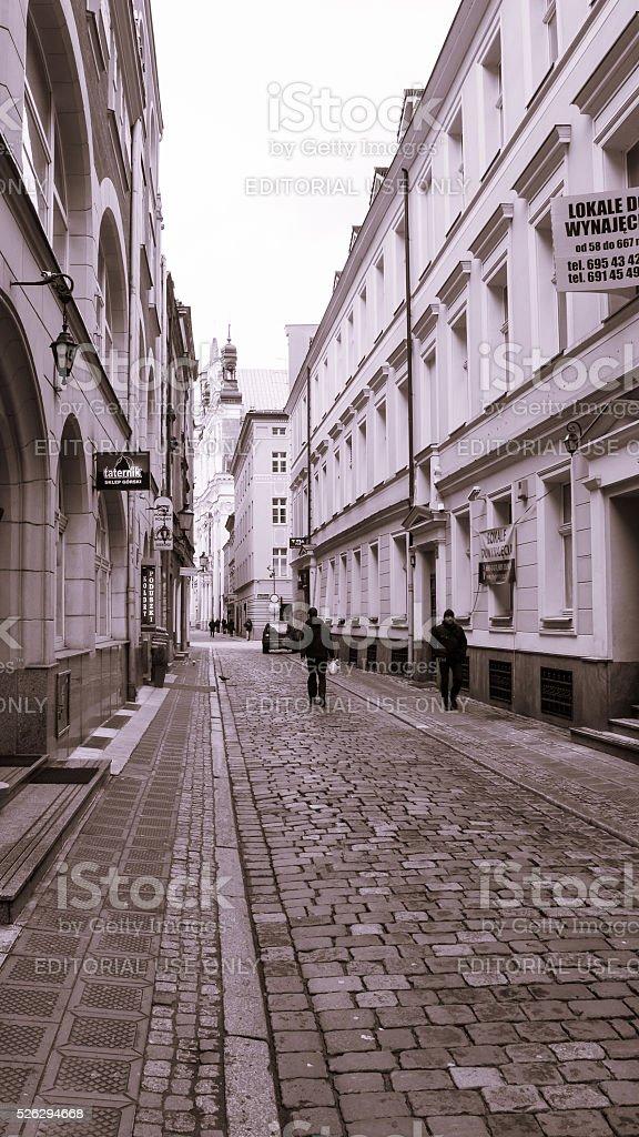 Golebia Street, Poznan stock photo