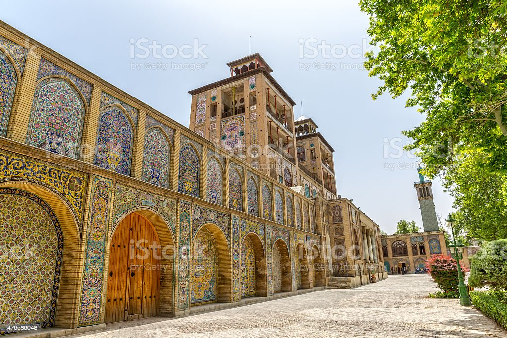 Golestan Palace exterior Edifice of the Sun stock photo