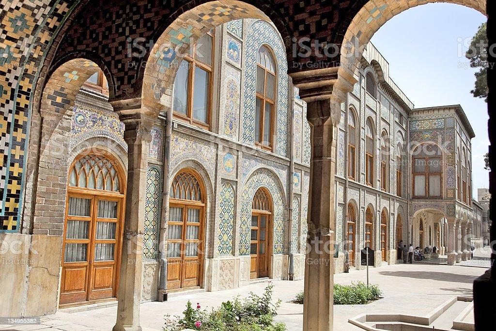 Golestan  palace, Tehran, Iran royalty-free stock photo