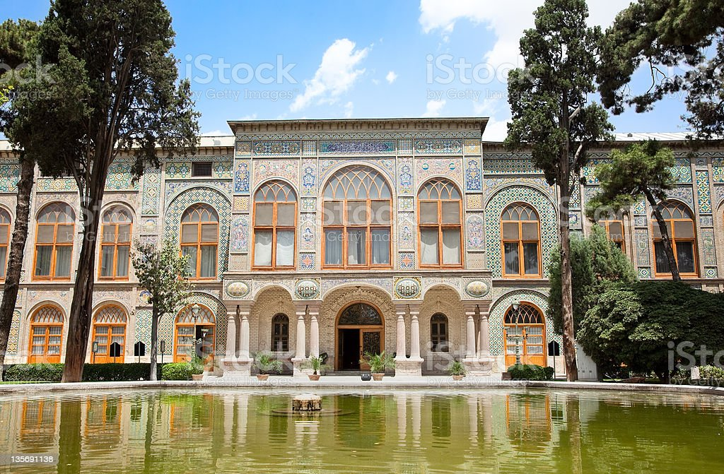 Golestan palace, Tehran, Iran stock photo