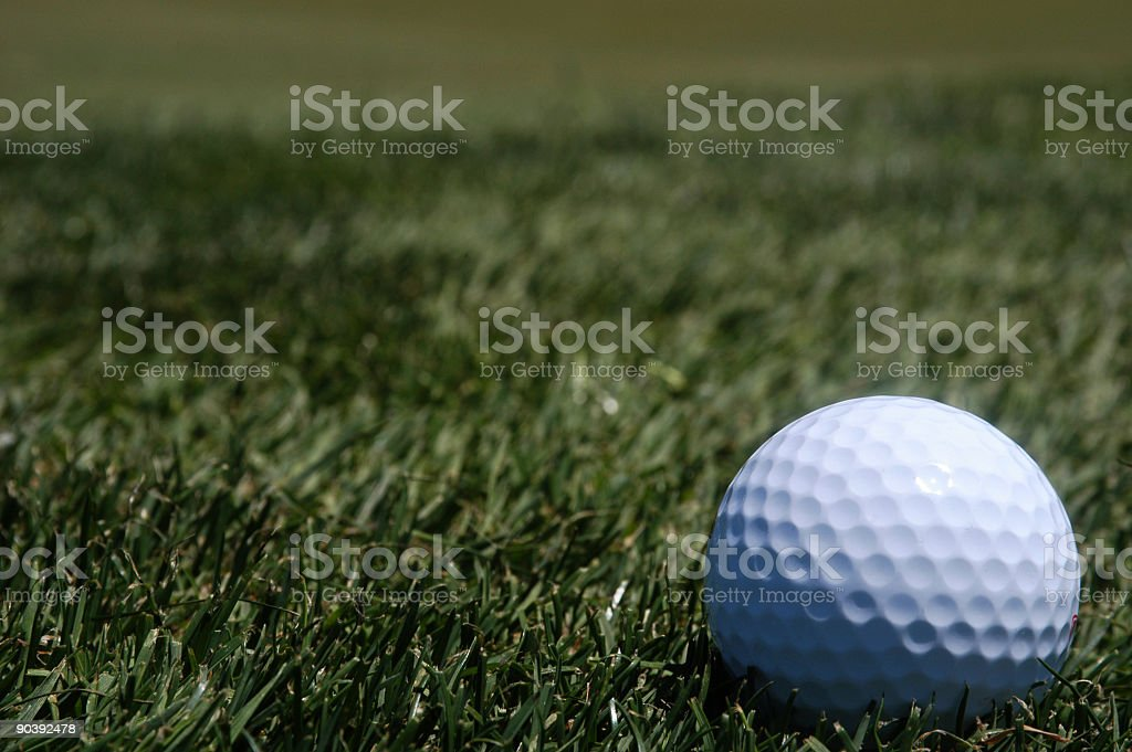 Golf 11 - The ball royalty-free stock photo