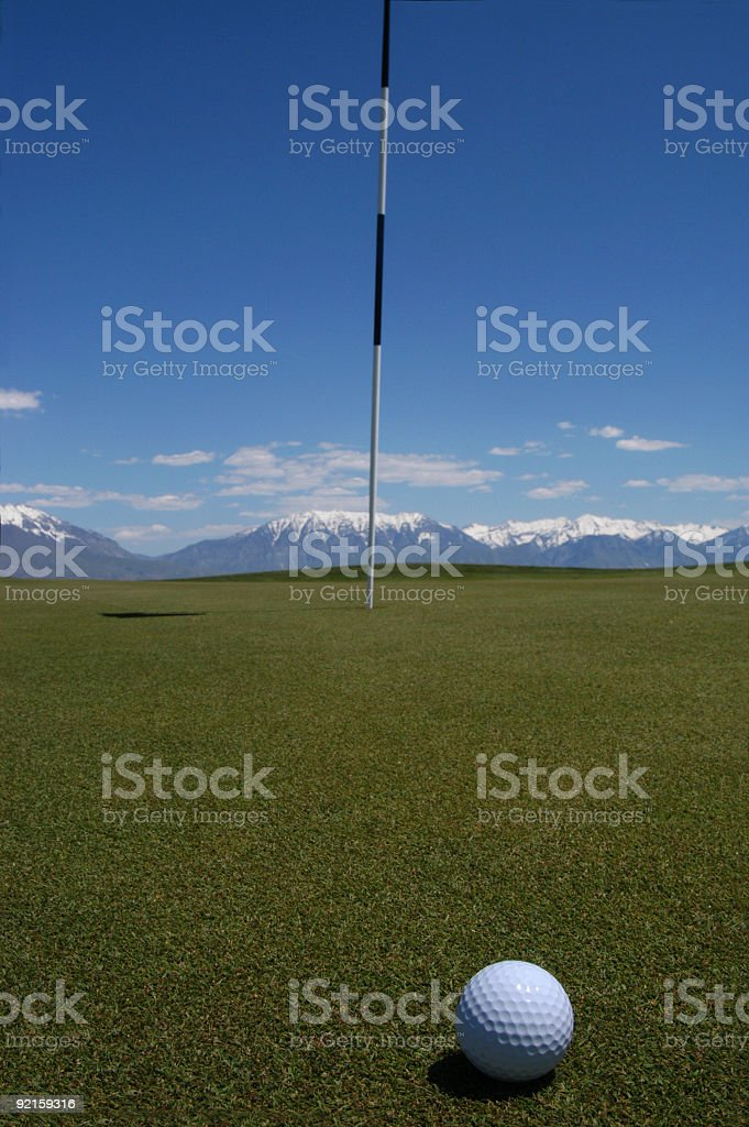 Golf 12 - On the Green royalty-free stock photo