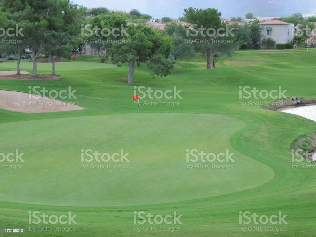 Golf - 18th Hole royalty-free stock photo
