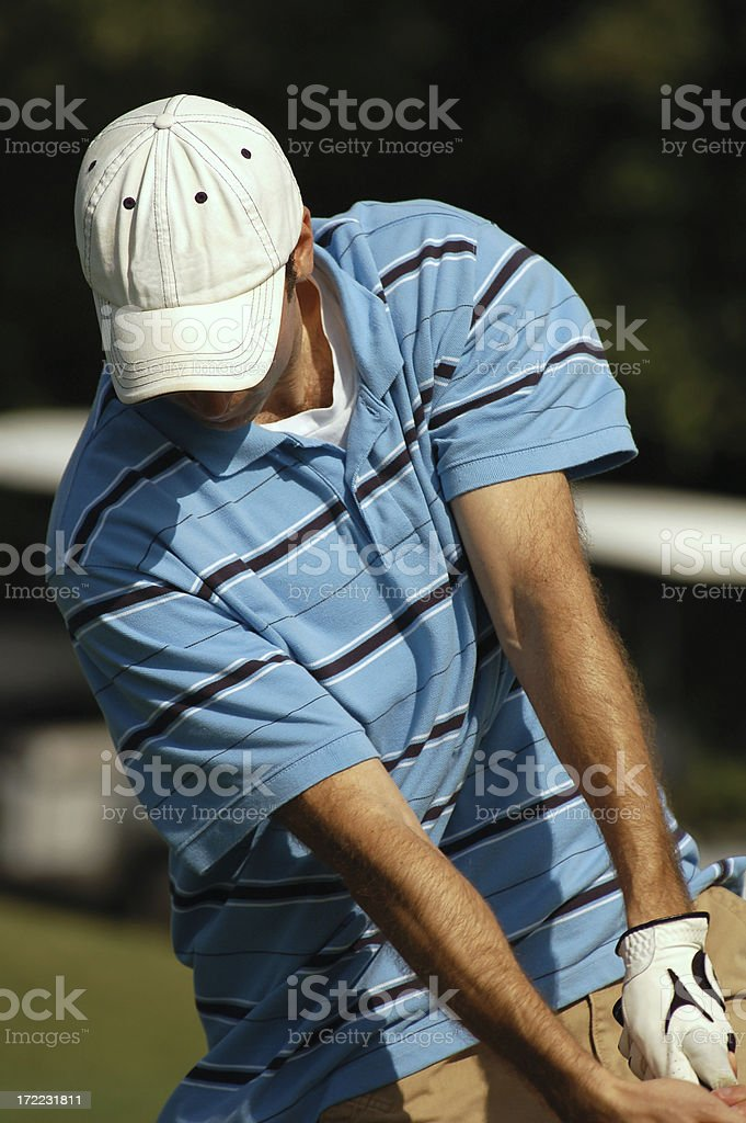 Golf action royalty-free stock photo