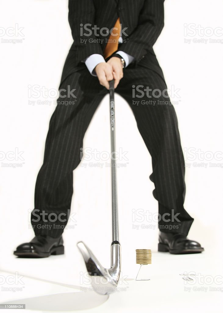 Golf and finance royalty-free stock photo
