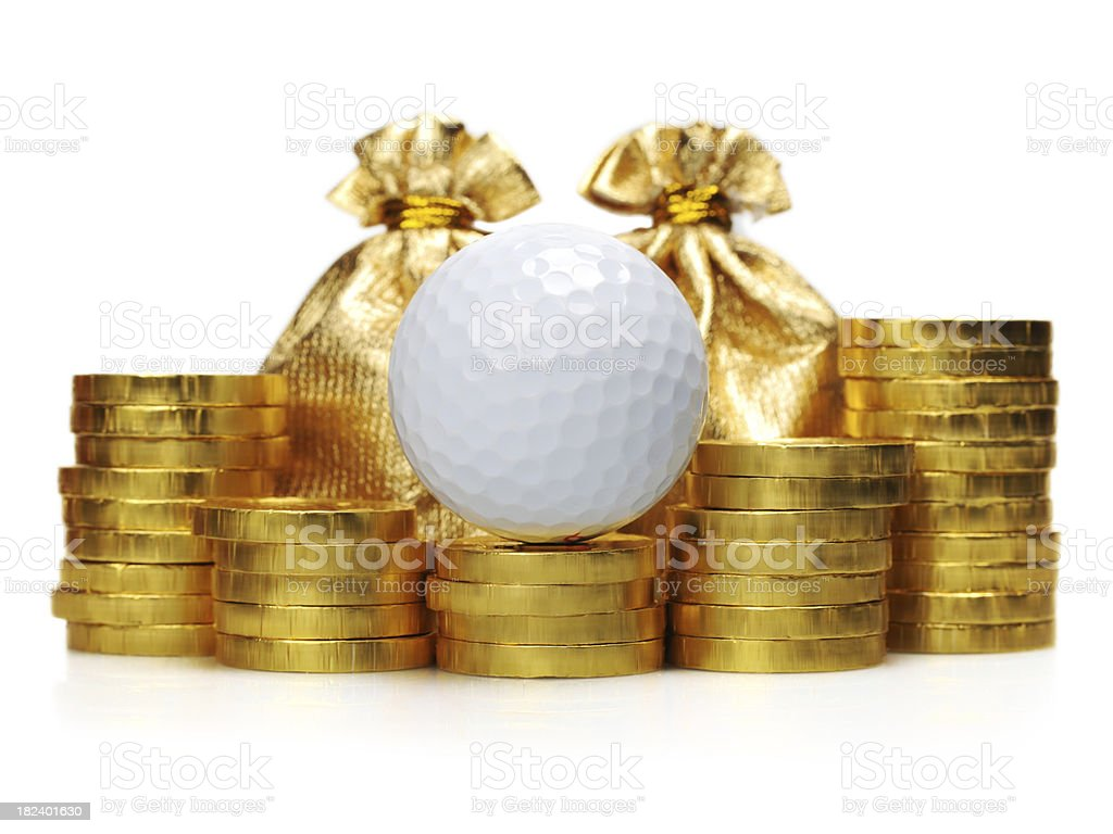 Golf and Gold - XLarge stock photo