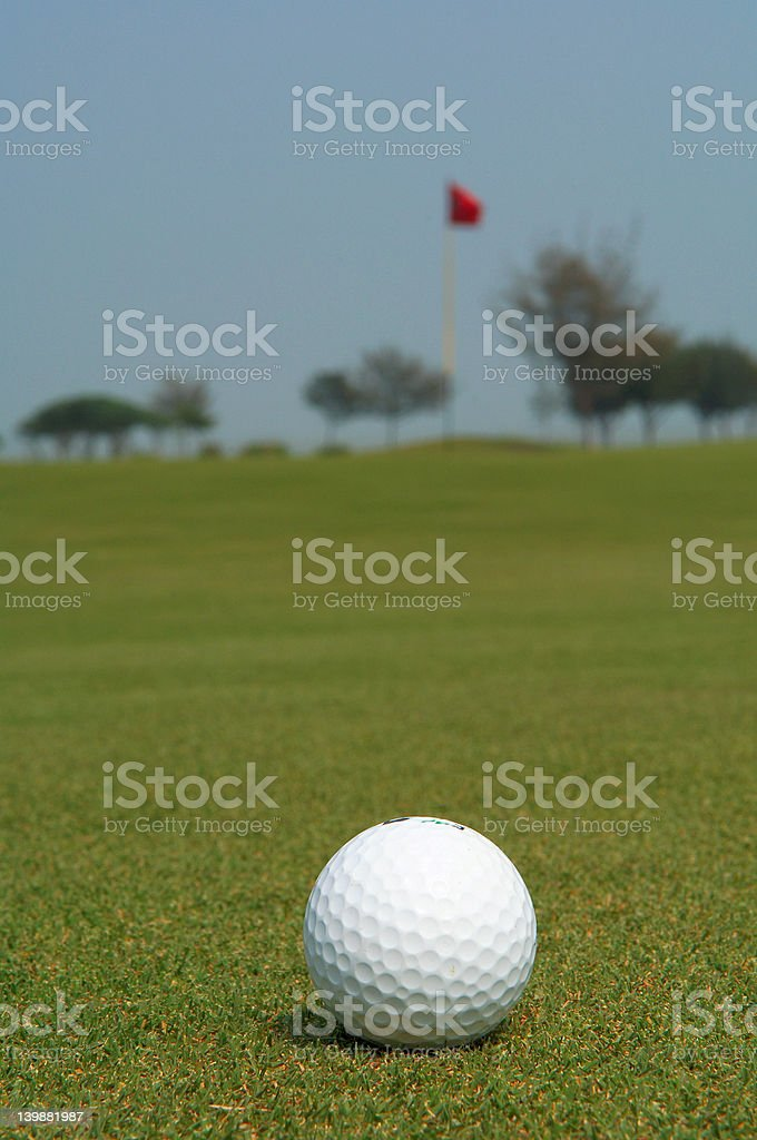 golf approaching green royalty-free stock photo