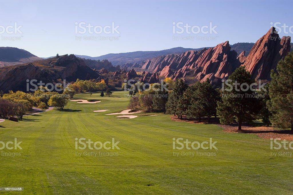 Golf at Arrowhead in the Colorado Rockies royalty-free stock photo