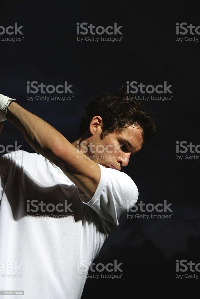 golf at nighttime royalty-free stock photo
