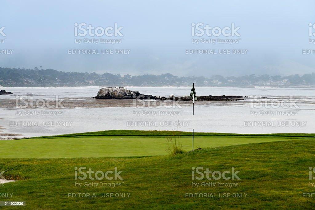 Golf at Pebble Beach stock photo