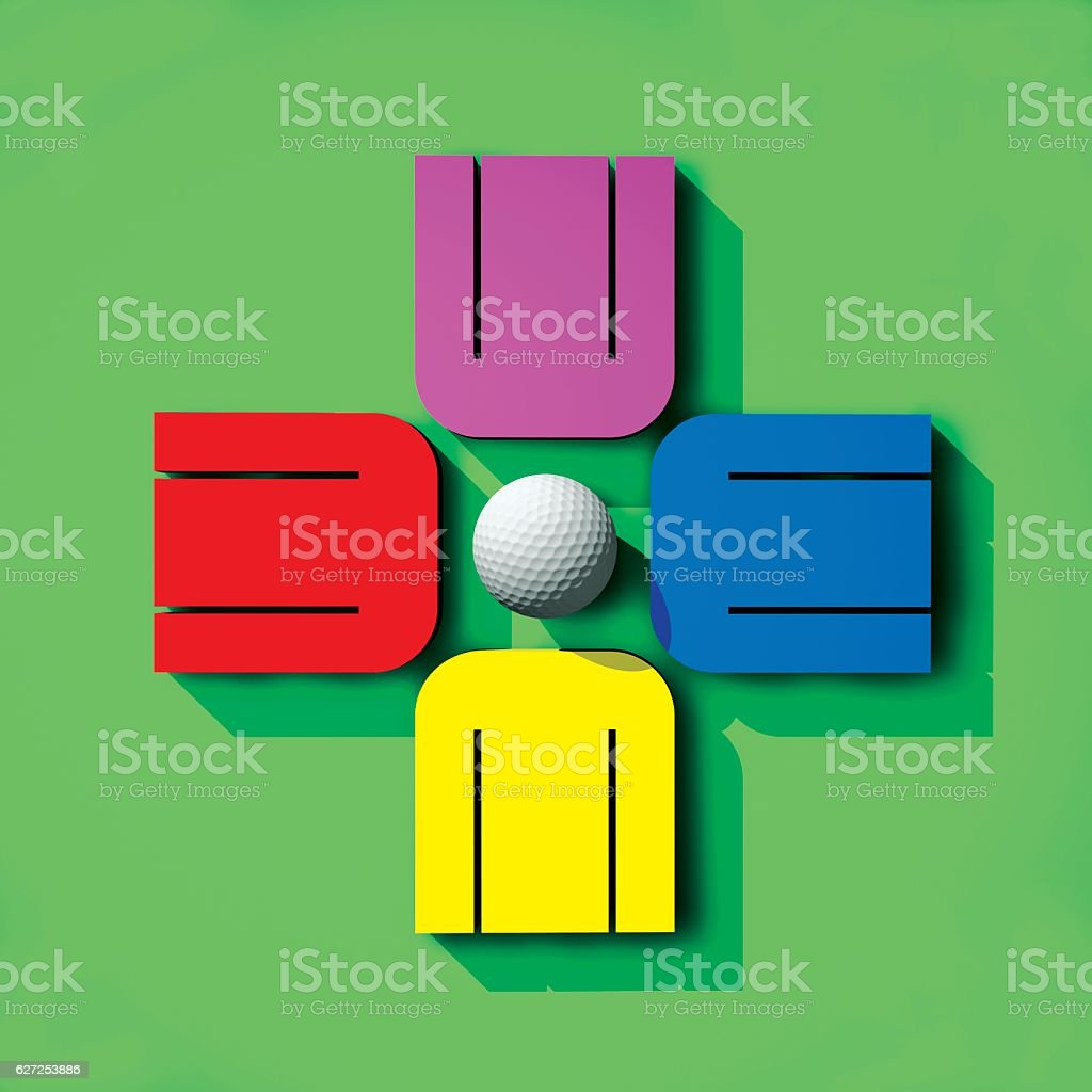 Golf Audience stock photo