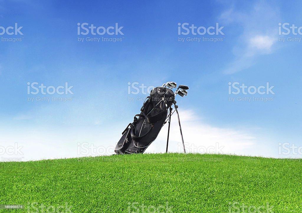 golf bag stock photo