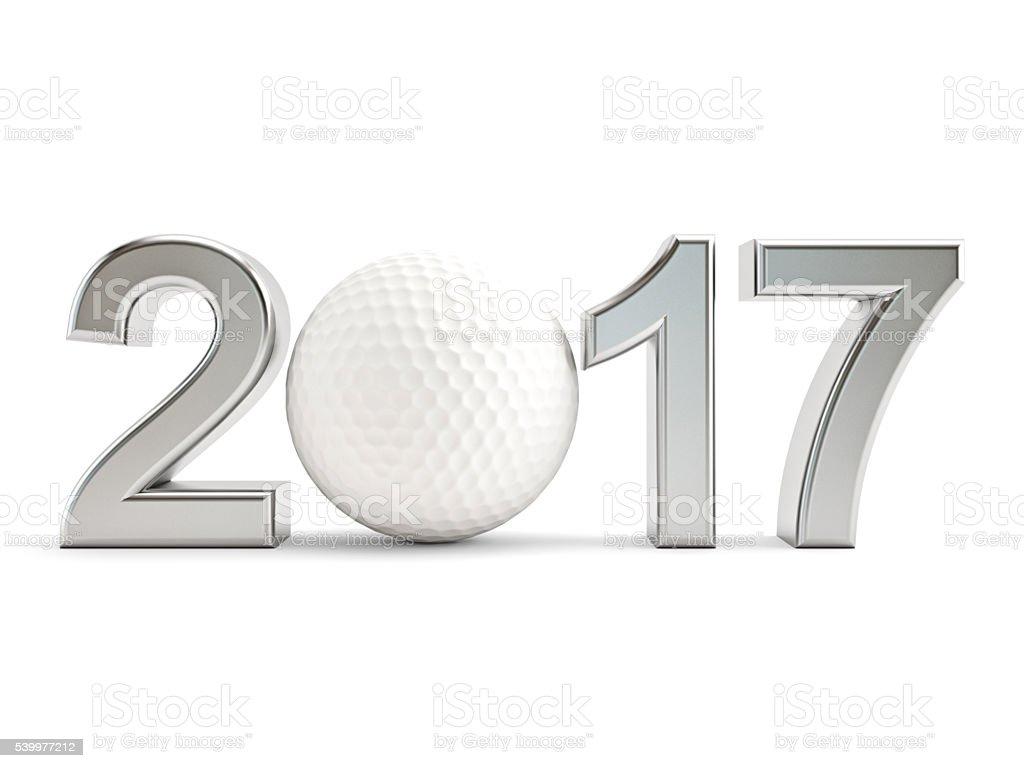 Golf ball 2017 stock photo
