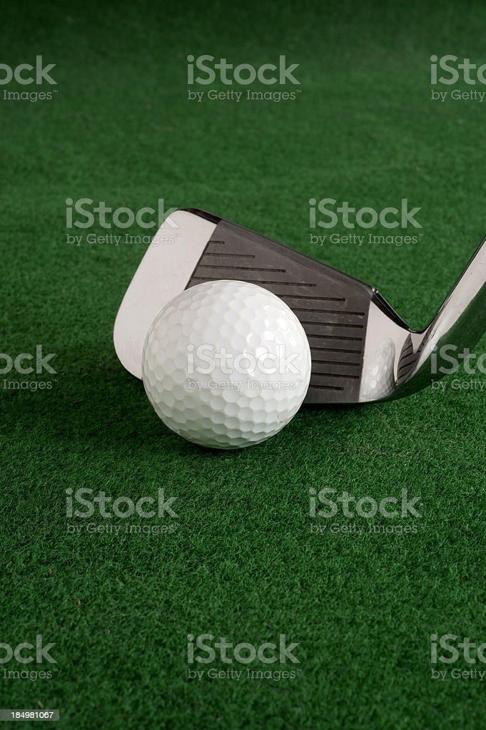 golf ball and iron royalty-free stock photo
