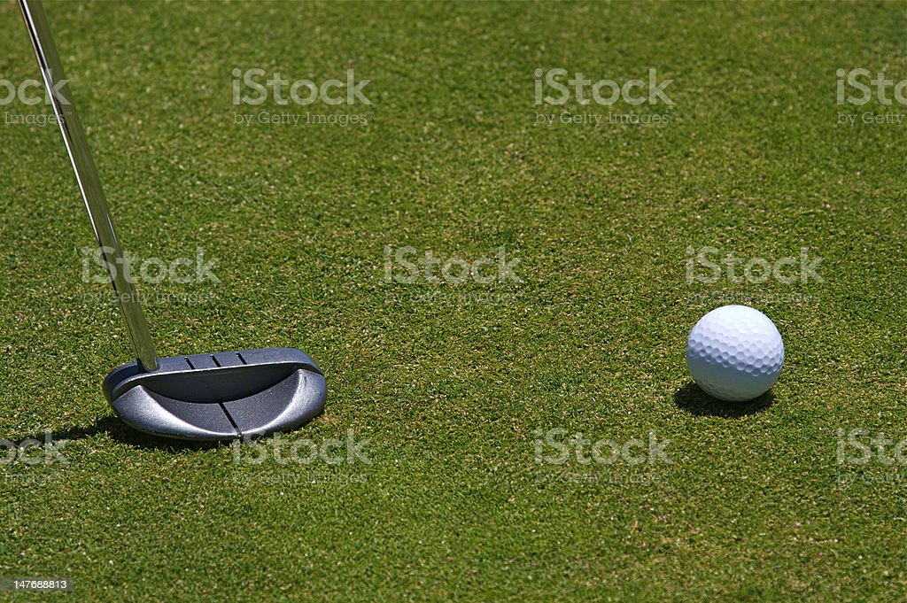 Golf Ball and Putter royalty-free stock photo