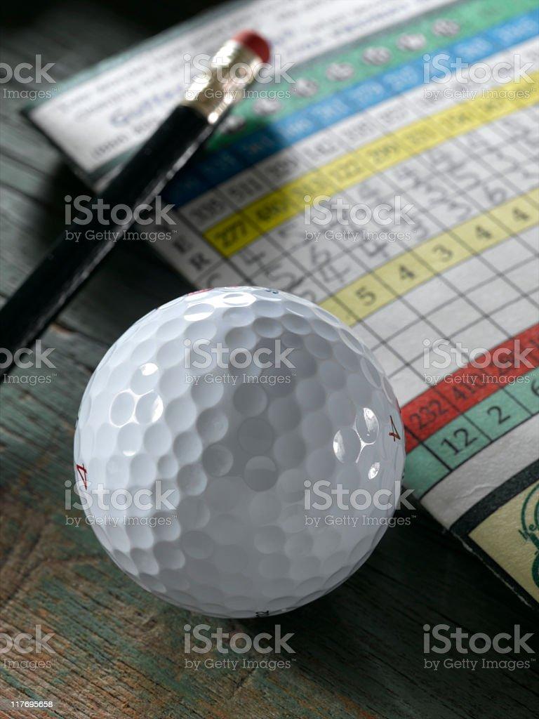 Golf Ball and Scorecard stock photo