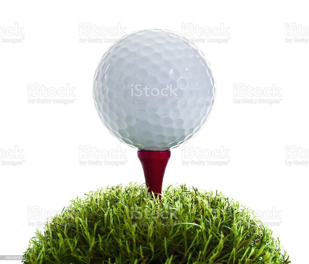 Golf Ball and Tee on grass royalty-free stock photo
