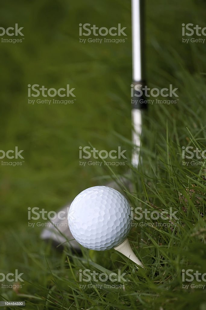 Golf Ball and Tee royalty-free stock photo