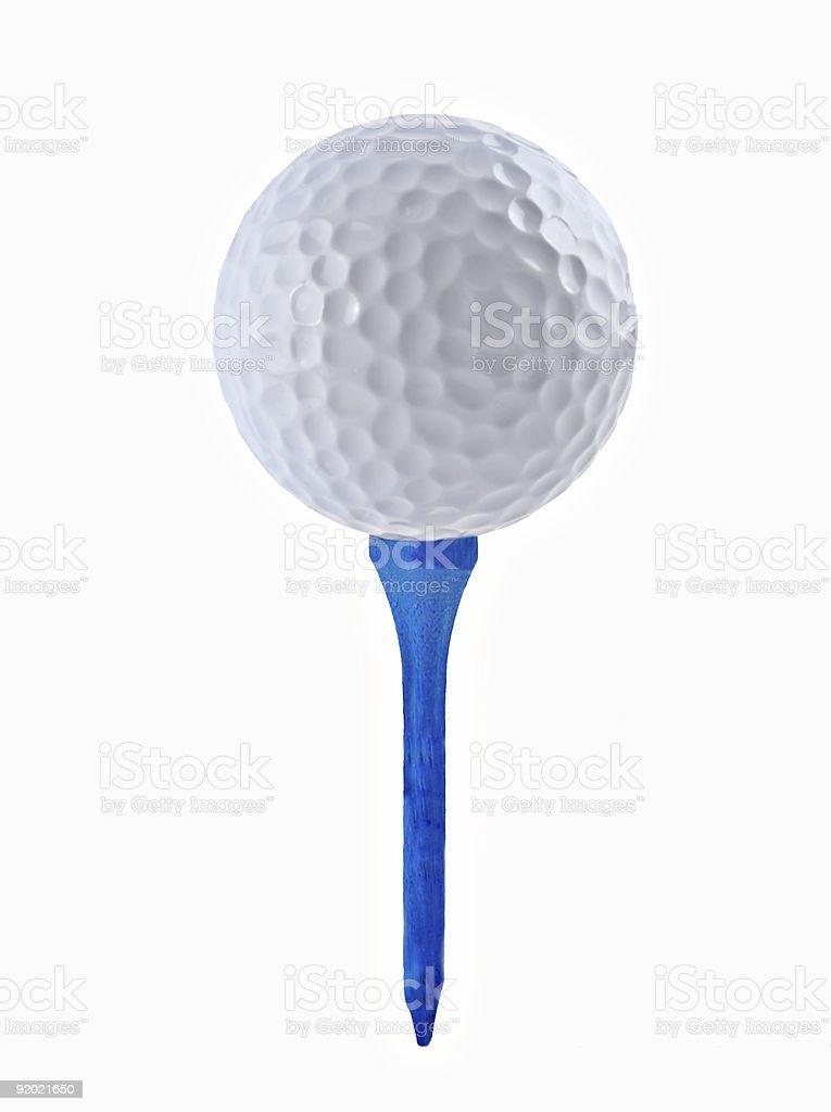 Golf Ball and Tee stock photo