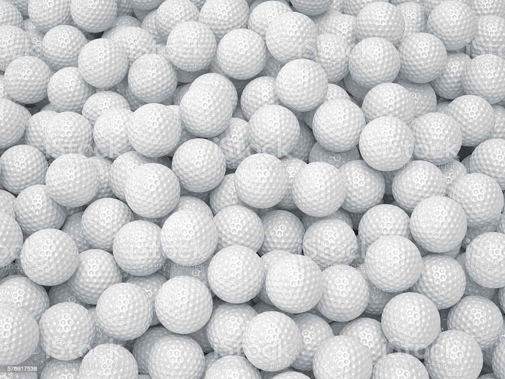 Golf ball background. Sport concept stock photo
