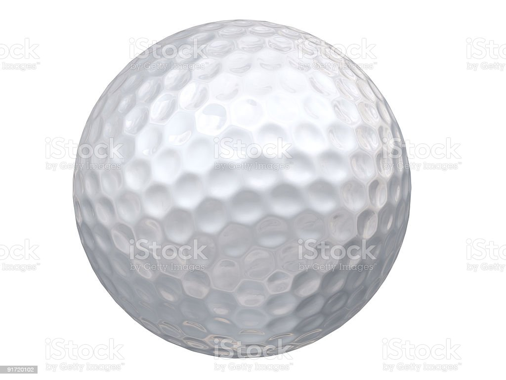 Golf Ball - clipping patch included royalty-free stock photo