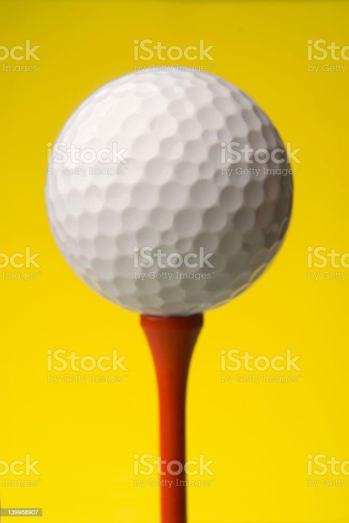 Golf ball close up royalty-free stock photo