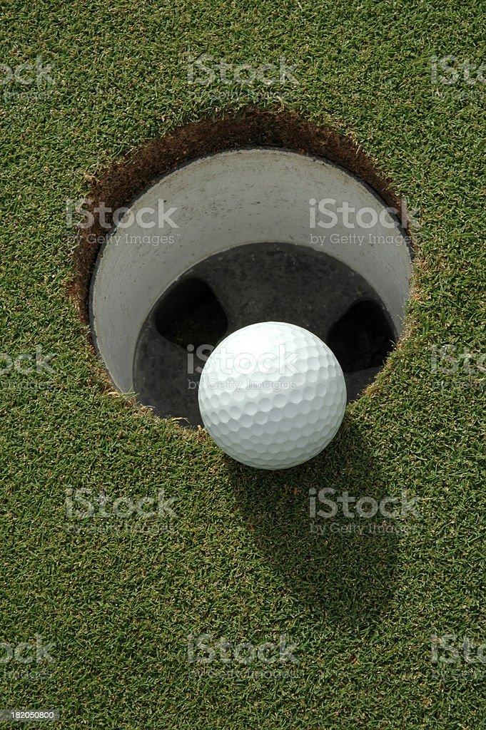 Golf Ball Hanging stock photo