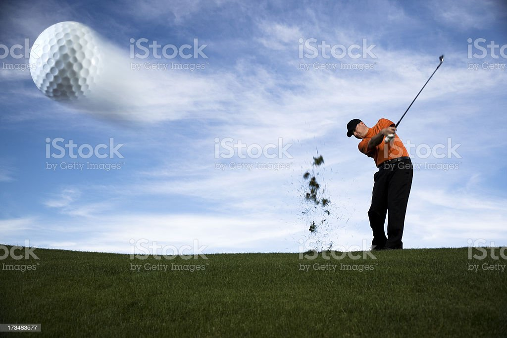 Golf Ball in Motion royalty-free stock photo