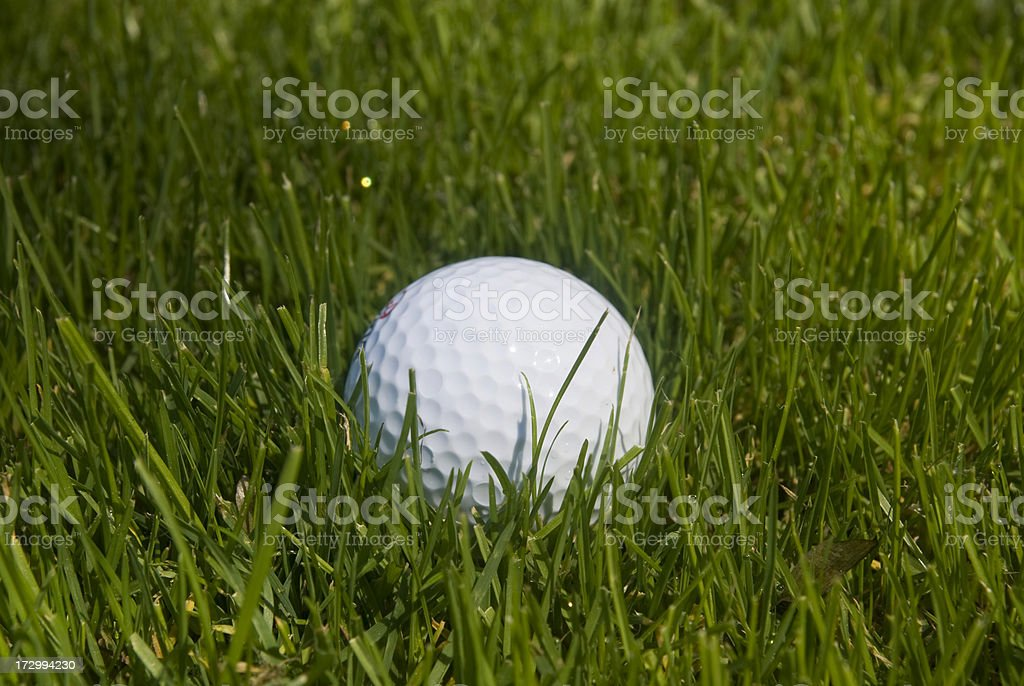 Golfball in rough royalty-free stock photo