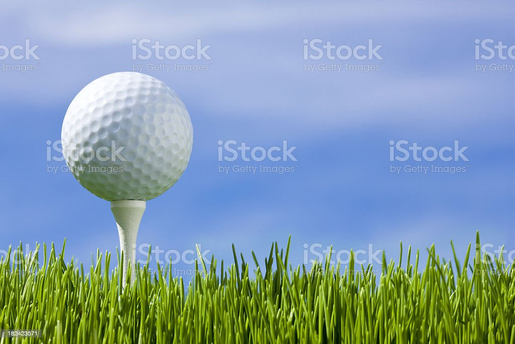 Golf Ball in the Grass stock photo