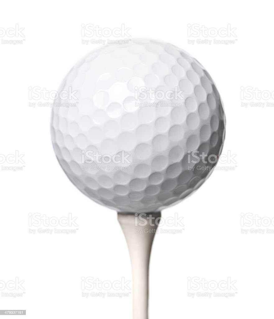 Golf ball isloated on white background stock photo
